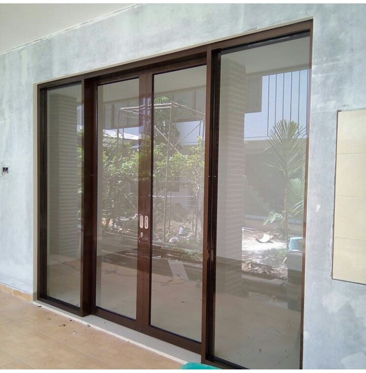 pintu sliding aluminium dan kaca